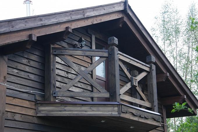 Фахверк, балконы, террасы, перила, деревянные фасады в санкт.